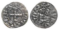 World Coins - France, Louis IX (1245-1270). BI Denier Tournois