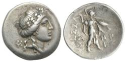 Ancient Coins - Thessaly, Thessalian League, mid-late 2nd century BC. AR Drachm. Anti–, magistrate.