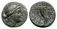 Ancient Coins - Phrygia, Laodikeia, c. 133/88-67 BC. Æ - Female head / Cornucopiae