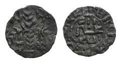 World Coins - Italy, Sicily, Palermo. Guglielmo II (1166-1189). AR Terzo di Apuliense. W Rx, Palm. R/ Cufic legend RARE