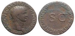 Ancient Coins - Germanicus. Died AD 19. Æ As. Rome mint. Struck under Claudius, AD 42-43.