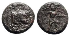 Ancient Coins - Sicily, Sileraioi, c. 354/3-344 BC. Æ - RARE