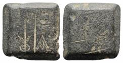 Ancient Coins - Byzantine Æ Ounce Square Commercial Weight