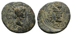 Ancient Coins - Agrippina Junior (Augusta, 50-59). Aeolis, Elaea. Æ - Apphios, magistrate - RARE