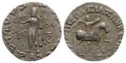 Ancient Coins - Indo-Skythians, Azes (c. 58-12 BC). AR Tetradrachm