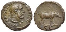 Ancient Coins - Trajan (98-117) AE Quadrans, Rome, ca. 98-102. R/ BOAR