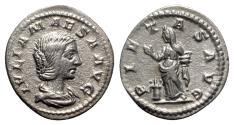 Ancient Coins - Julia Maesa (Augusta, 218-224/5). AR Denarius - Rome - R/ Pietas