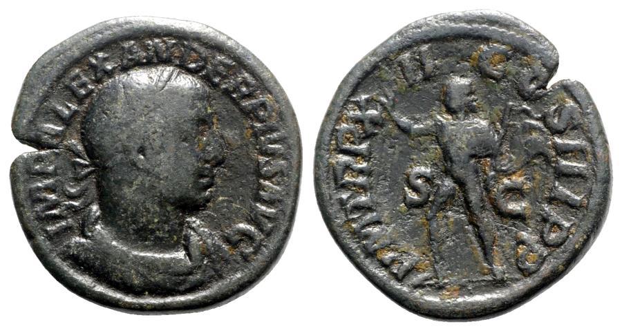Ancient Coins - Severus Alexander (222-235). Æ Sestertius - R/ Sol