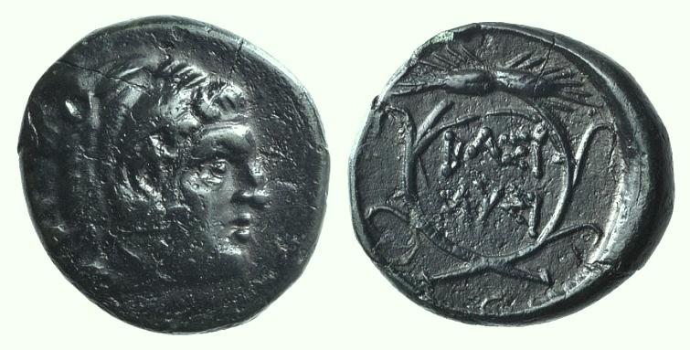 Ancient Coins - Kings of Thrace, Lysimachos (305-281 BC). Æ Unit. Lysimacheia (?).