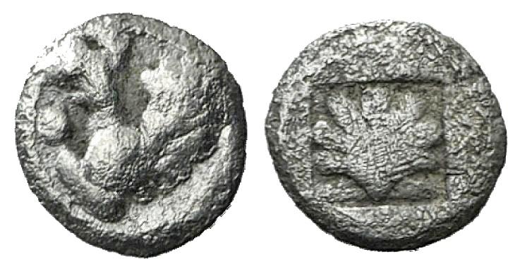 Ancient Coins - Thrace, Abdera, c. 475-448 BC. AR Hemiobol RARE