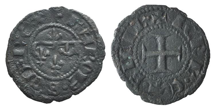 World Coins - Italy, Napoli. Carlo II d'Angiò (1285-1309). BI Denaro Gherardino