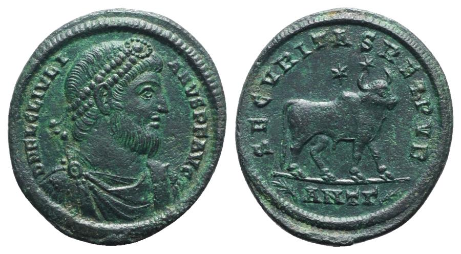 Ancient Coins - Julian II (360-363). Æ 30mm. Antioch, 361-3. R/ BULL