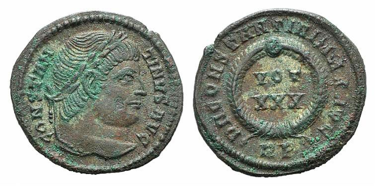 Ancient Coins - Constantine I (307/310-337). AE Follis. Rome, 330-5. Scarce