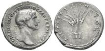 Ancient Coins - Trajan, 98-117 Tridrachm circa 112-114 R/  Grain ears