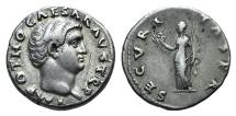 Ancient Coins - Otho. AD 69. AR Denarius. Rome mint. Struck 15 January–8 March. R / Securitas RARE
