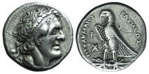 Ancient Coins - PTOLEMAIC KINGS of EGYPT. Ptolemy I Soter. 305-285 BC. AR Tetradrachm