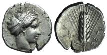 Ancient Coins - Southern Lucania, Metapontion, c. 430-400 BC. AR Stater