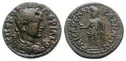 Ancient Coins - Valerian II (Caesar, 256-258). Lydia, Bagis. Æ - R/ Zeus