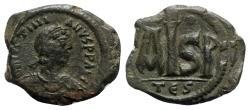 Ancient Coins - Justinian I (527-565). Æ 16 Nummi - Thessalonica