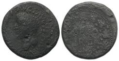 Ancient Coins - Tiberius (14-37). Spain, Segobriga. Æ As. R/ SEGO / BRIGA