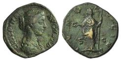 Ancient Coins - Crispina. Augusta, AD 178-182. Æ Dupondius or As. Rome mint. Struck under Commodus, AD 178-182. R/ JUNO