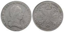World Coins - Holy Roman Empire, Franz II (1792-1804). AR Kronentaler 1795, H Günzburg
