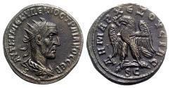 Ancient Coins - Trajan Decius (249-251). Seleucis and Pieria, Antioch. BI Tetradrachm - R/ Eagle