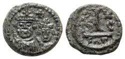 Ancient Coins - Heraclius (610-641). Æ 10 Nummi - Catania, year 16 (625/6)