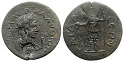 Ancient Coins - Claudius II (268-270). Pisidia, Sagalassus. Æ 10 Assaria - R/ Mên