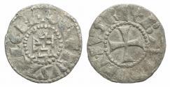 Ancient Coins - CRUSADERS, Latin Kingdom of Jerusalem. Baldwin III. 1143-1163. BI Denier
