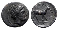 Ancient Coins - Thessaly, Atrax, mid 4th century BC. Æ Dichalkon