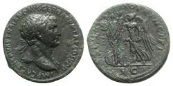 Ancient Coins - Trajan (98-117). Æ As - Rome - R/ Victory