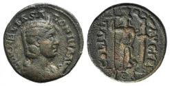 Ancient Coins - Salonina (Augusta, 254-268). Phoenicia, Berytus. Æ 26mm.  R/ Astarte