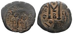 Ancient Coins - Heraclius and Heraclius Constantine (610-641). Æ 40 Nummi - Constantinople, year 5 (614/5)