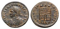 Ancient Coins - Constantius II (Caesar, 324-337). Æ - Cyzicus - R/ Camp-gate