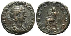 Ancient Coins - Herennia Etruscilla (Augusta, 249-251). Æ Sestertius R/ Pudicitia