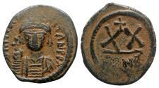Ancient Coins - Tiberius II (578-582). Æ 20 Nummi - Constantinople