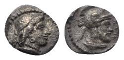 Ancient Coins - Cilicia, Tarsos. Tarkumuwa (Datames, Satrap, 384-361/0 BC). AR Obol