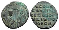 Ancient Coins - Constantine VII and Zoe (913-959). Æ 40 Nummi