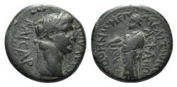 Ancient Coins - Claudius (41-54). Phrygia, Cadi. Æ 18mm. Meliton Asklepiadou, c. 50-54.  R/ Zeus