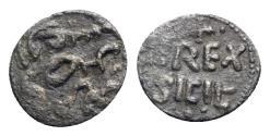World Coins - Italy, Sicily, Messina or Palermo. Enrico VI (1191-1197). BI Fraction of Dirhem. Cufic legend R/ Z REX / SICIL'