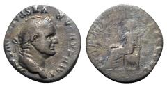 Ancient Coins - Vespasian (69-79). AR Denarius - Rome - R/ Pax