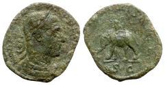 Ancient Coins - Philip I (244-249). Æ Sestertius - Rome - R/ Elephant