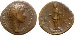 Ancient Coins - Marcus Aurelius (Caesar, 139-161). Æ As - Rome - R/ Pietas