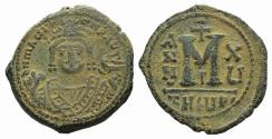 Ancient Coins - Maurice Tiberius (582-602). Æ 40 Nummi. Theoupolis (Antioch), year 15 (596/7)