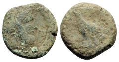 Ancient Coins - Bruttium, Lokroi Epizephyrioi, c. 350-325 BC. Æ