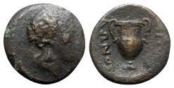 Ancient Coins - Macedon, Apollonia Chalkidike, c. 279-200 BC. Æ - Dionysos / Amphora