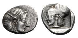 Ancient Coins - Mysia, Lampsakos, c. 500-450 BC. AR Diobol