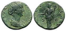 Ancient Coins - Diva Faustina Senior (died 140/1). Æ Sestertius - R/ Ceres