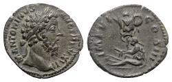 Ancient Coins - Marcus Aurelius (161-180). AR Denarius. German Captive